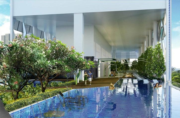 V On Shenton Condominium Sky Pool