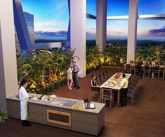 V On Shenton Condominium Gourmet Dining